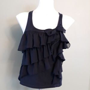 Hollister ruffled tank top
